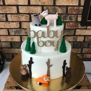 Fondant Mushroom Cake Topper - Mushroom Topper - Nursery Rhyme Cake -  Mother Goose Cake - Birthday - 1st Birthday - Baby Shower - Baby