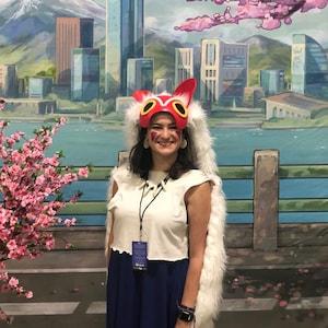 Princess Mononoke Half Mask Cosplay Costume Headdress Etsy