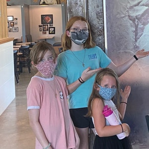 Washable Adults/Kids Face Mask with Filter Pocket - Tri-blend Fabric - MADE In USA - Washable, Reusable photo