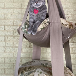 Pet Gift Kitty Cloud Cat Bed Beethoven Piano Tapestry Print Double Hanging Cat Bed Pet Furniture