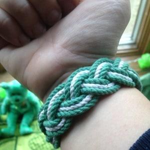 Saint Patricks Day Sailor Knot Bracelet
