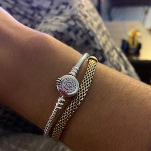 Pandora Bracelets, Moments Sparkling Crown O Snake Chain Bracelet ,  Sterling Silver,, Fathers Day Gift