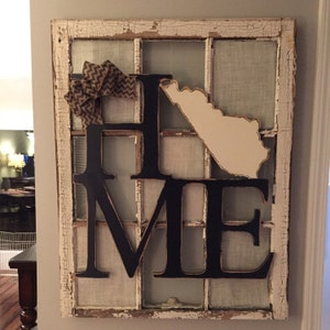 Texas Or Any State Home Door Hanger Wood Cut Out Etsy