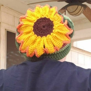 Hippie hat Gifts For Her Boho Sunflower Slouch Birthday Gift Holiday Gift One of a Kind Gifts Unique Gifts Boho Style