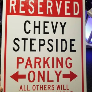 LISAS Parking Only Sign