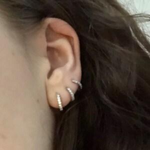 Small Hoop Earrings • hoop earrings • gold hoop earrings • huggie hoop earrings • huggie hoops • tiny hoops • minimalist earrings photo