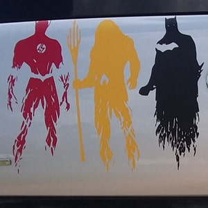 CELYCASY Justice League Wonder Woman Superhero Door Car Bumper Vehicle Decal Sticker Bike Wall Laptop Window Other Characters Available
