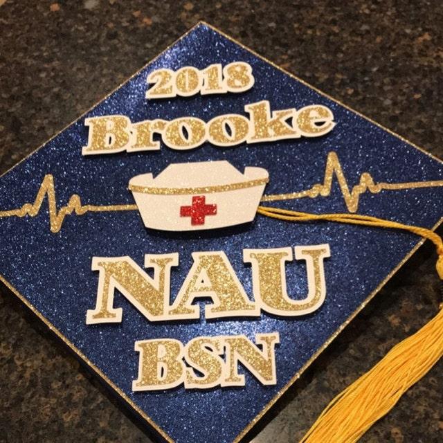 BSN RN Custom Nurse Graduation Cap Decoration Topper