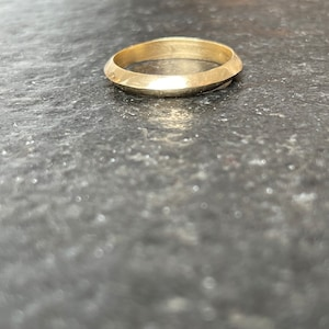 Bride/'s red gold band #803. size 5 12 ready to ship