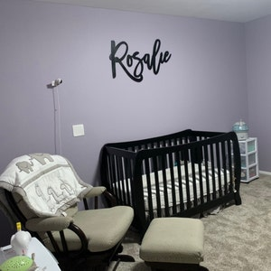 Custom wood name sign for nursery girl, boy, over crib sign, baby name sign, family name sign, custom name sign, wooden sign,instant preview photo