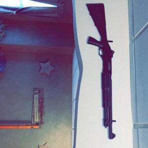Details about  /3 Pair Gun Racks Rifle Shotgun Hangers Hook Archery Bow Sword Wall Mount Storage