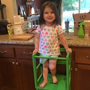 Montessori Kitchen Helper Stool Toddler Tower Wood