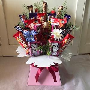 KRAFT Living Vases Florist Bouquet Box Flower Plant Aqua Sweet Boxes Gift UK