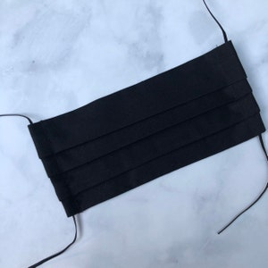 Black 1/8 inch Elastic -  Black - Skinny Elastic - Elastic by the yard - Thin Elastic - DIY - Headbands - Elastic for Face Mask photo