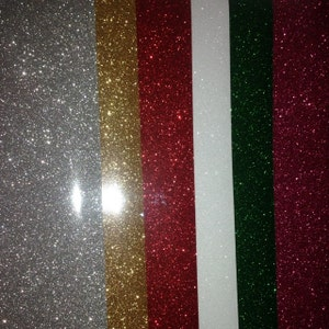 """12"""" x 20"""" / 5-sheets  / Easyweed Glitter HTV  / Combine for Shipping Discount - Heat Transfer Vinyl - HTV photo"""
