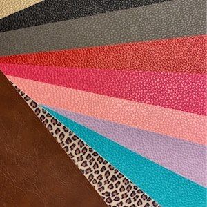PEBBLED FAUX LEATHER Sheets, Leather for Earrings, Fabric Sheet, Textured Leather photo