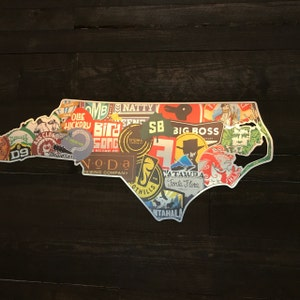50 States Of Brew Usa Craft Beer Map Man Cave Wall Decor