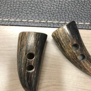 8pc 27mm School Grey Mock Bone Horn Cardigan Trouser Shirt Sewing Buttons 0412