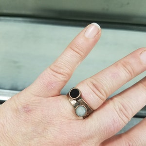Copper Ring Meditation Ring Black Tourmaline Ring Chakra Ring
