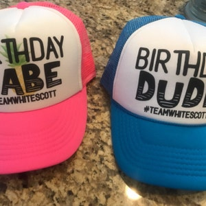 NEON Bachelorette Party Hat  Totally Customizable Trucker Cap  Pool Party  Vegas Miami  Beach Vacation  Send Custom Logo for Branding