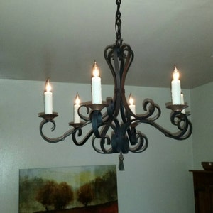 """1/"""" X 2 3//8 /"""" links Lighting Chandelier Chain Wrought Iron 5//16/"""" square bar"""