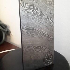Beskar Star War Handmade Damascus Steel Billet-Bar-Mandalorian iron