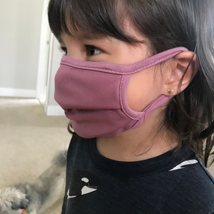Kids face Mask, child face mask, Face Mask, Reusable Face Mask, Youth Face Mask, Cotton Face Cover, Washable Face Mask, Made in the USA photo