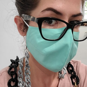 5PCS/SET Adult Mask, Reversible Face Mask, Cotton mask, Reusable and Breathable with Free 1 Lanyard photo