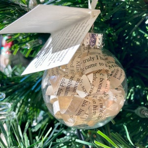 Christmas Ornament Thespian Holiday Decor Actors Gift Vintage Novel Ornament William Shakespeare King John Classic Play Theater