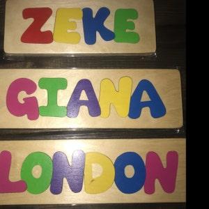 Wooden Custom Name Puzzle - any THREE names