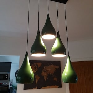 Sandra Louise reviewed Green 5 Outlet Ceiling Light Fixtures Black Hanging Pendant Lighting