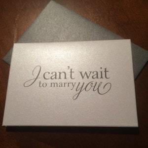 Wedding Card to Your Bride or Groom - I Can't Wait to Marry You - To my Groom on Our Wedding Day Notecard - Love Note Before I Do CS08 photo