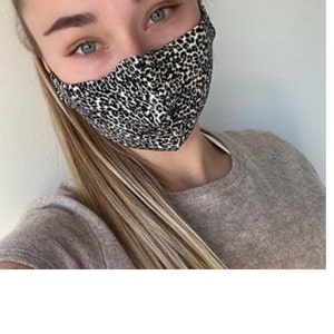 Face Mask with Filter Pocket & Nose Wire, Fast UK Delivery, Washable, Triple Layer, Handmade, Snug Fit photo