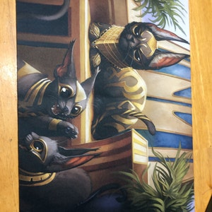 Regal Caracal Foil Artist Proof from OMGKitties MTG set