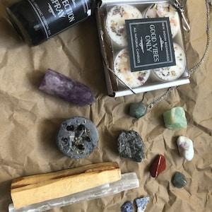 Mystery Grab Bag - Mystery Box - Random Box of Crystals - Candles - Aromatherapy - Bath Salts - Selenite - Palo Santo - Gifts photo