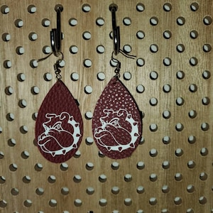 MAROON MATTE Faux Leather Sheet, PU Leather, Leather for Earrings - 0051 photo