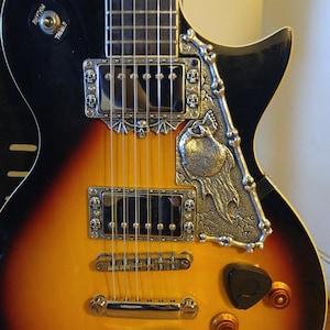 guitar parts pewter hardware skull humbucker pickup etsy. Black Bedroom Furniture Sets. Home Design Ideas