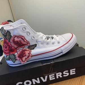9f37fe098c46 Rose Embroidery Hi Top Converse Floral Chucks SALE Coupon