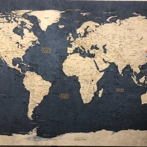 Flight Routes World Map Air Traffic Flight Patterns | Etsy