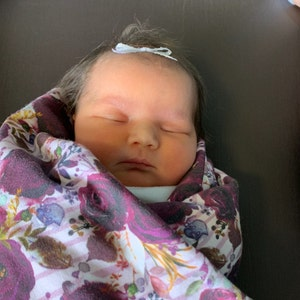 swaddle set hospital bag baby girl hello my name is Watercolor bow swaddle blanket fleece blanket baby blanket personalized baby