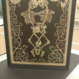 Madame Talbot's Victorian Lowbrow Till Death Do Us Part Skeleton Wedding  Valentine Poster