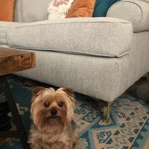 "Set Metal Furniture Legs Metal Couch Sofa Legs 5/"" Shiny Brass 4PC DIY"