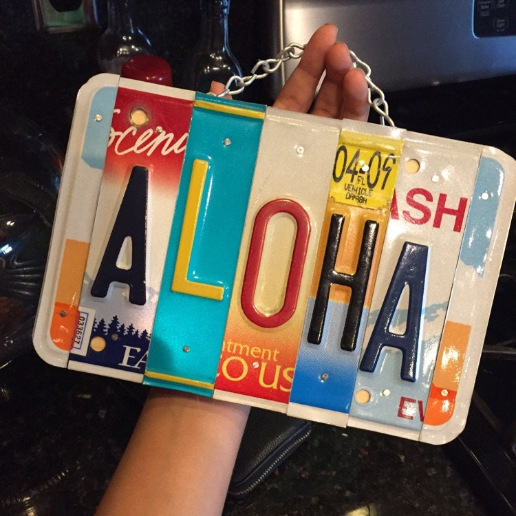 Aloha  License plate  Hawaiian  Hawaii  Giftidea  Love