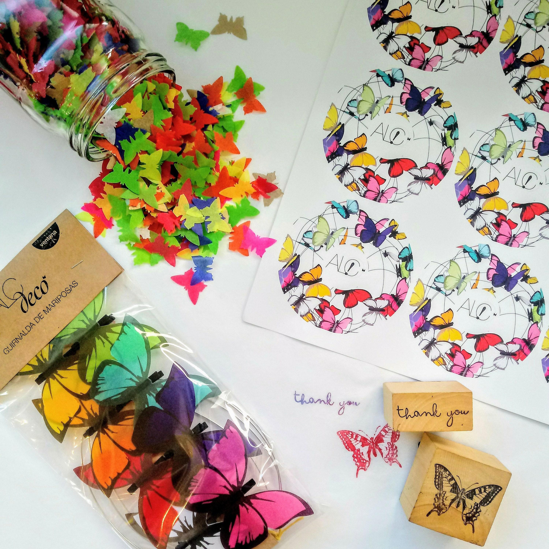 Lampara de techo con mariposas fucsias de papel pretty etsy - Lamparas de techo de papel ...