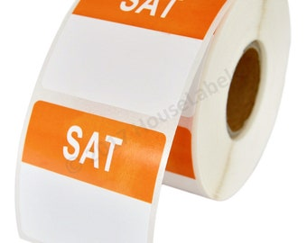 1 Roll of Saturday Day of the Week Labels (500 labels/roll, 40mmx40mm) BPA Free!