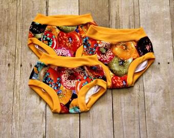 Donuts Cloth Training Underwear, Cloth Training Pants, Cloth Underwear, Potty Training Underwear, Cloth Training Pants, Kids Underwear