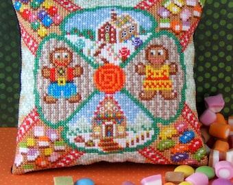 Gingerbread Sweet Treats Mini Cushion Cross Stitch Kit