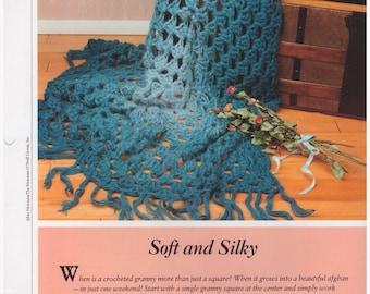 Crochet Pattern, Crochet Afghan Pattern,  Crochet Throw Pattern,