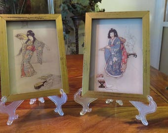 Beautiful Vintage Special Edition Fairy Tales By Warwick Goble With Certificate Of Authenticity Set of Two