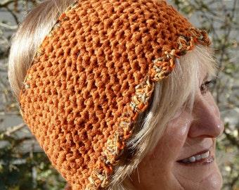 Orange winter headband, women's winter headband that's creative and unique, original women's head fashions, Bohemian accessory, gift for her